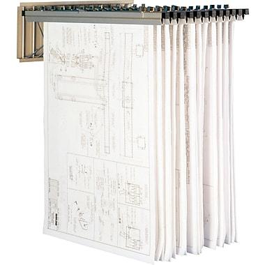 Mayline Steel Vertical Pivot Wall Rack