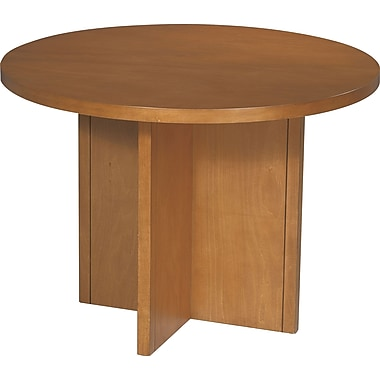 Office Star 42in. Wood Veneer Round Conference Table, Cherry