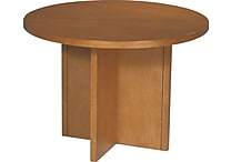 Office Star 42' Wood Veneer Round Conference Table, Cherry