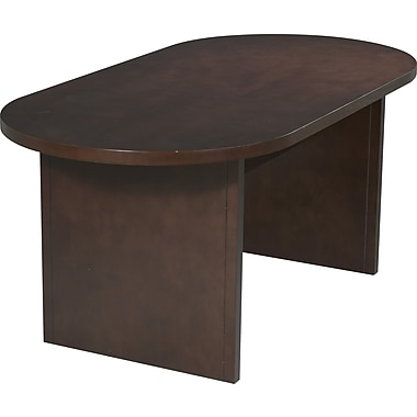 Office Star 6' Oval Wood Veneer Conference Table, Mahogany