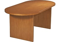Office Star 6' Oval Wood Veneer Conference Table, Cherry