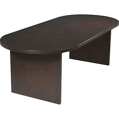 Office Star 8' Oval Wood Veneer Conference Table, Mahogany