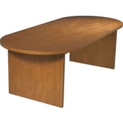 Office Star 8' Oval Wood Veneer Conference Table, Cherry