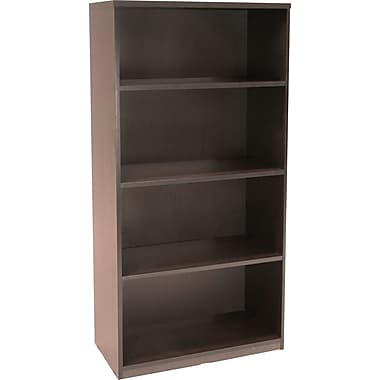 Regency® Sandia 4-Shelf Bookcase, Mocha Walnut