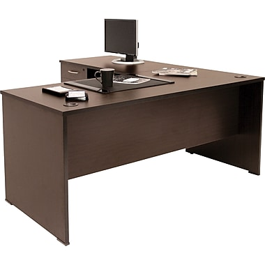 Regency Sandia Complete Office Solution, 60in. L-Desk, Mocha Walnut
