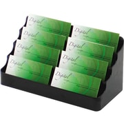 Deflecto 8-Pocket Black Business Card Holder