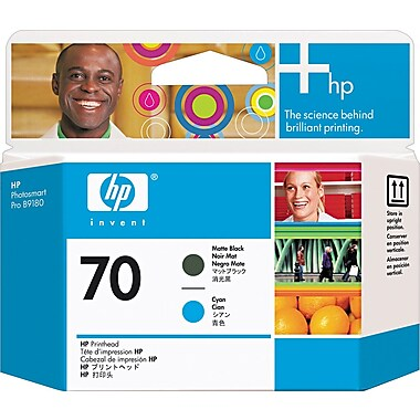 HP 70 Matte Black and Cyan Printhead (C9404A)
