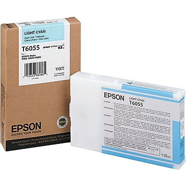 Epson® T605500 Light Cyan Ink Cartridge