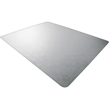 Floortex Polycarbonate Chair Mat for Low- to Med-Pile Carpets, Rectangular, 48in. x 53in.