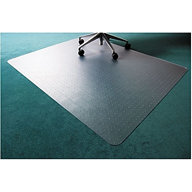 Floortex Polycarbonate Chair Mat for Low- to Med-Pile Carpets, Rectangular, 48in. x 79in.