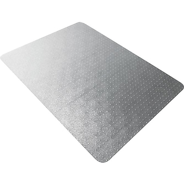 Floortex Polycarbonate Chair Mat for Low- to Med-Pile Carpets, Rectangular, 47in. x 35in.