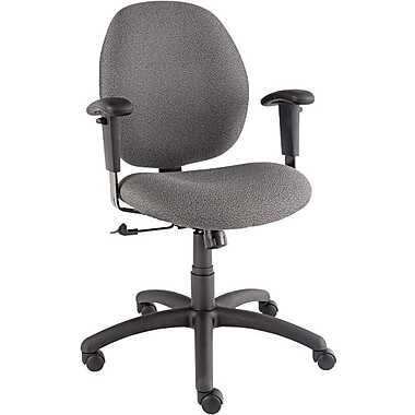 Global Graham Series Olefin Pneumatic Ergo-Tilter Low Back Swivel/Tilt Chair, Graphite