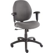 Global Graham Series Olefin Pneumatic Ergo-Tilter Low Back Swivel/Tilt Chair, Graphite
