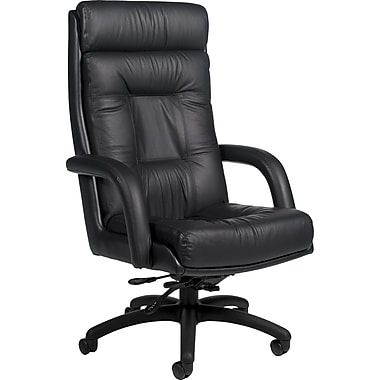 Global® Arturo™ Executive Leather High-Back Tilt Chair, Black