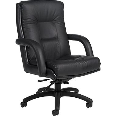 Global® Arturo™ Executive Leather Mid-Back Tilt Chair, Black