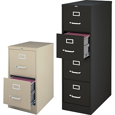 Staples 25in. Deep Commercial Vertical File Cabinets, Legal Size