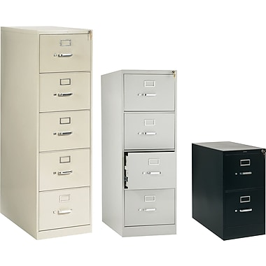 HON® 210 Series 28 1/2in. Deep  Commercial Vertical File Cabinets, Legal Size