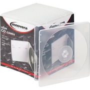 Slim CD Cases, Clear, 25 Cases per Pack