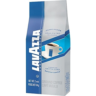 Lavazza® Gran Filtro Italian Light Roast Ground Coffee, Arabica Blend, Regular, 2.25 oz., 30 Packets