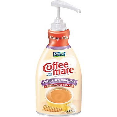 Nestlé Coffee-mate® Liquid Coffee Creamer Pump Bottles, 1.5 Liter