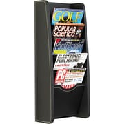 Safco Five-Pocket PVC Magazine Display Rack, Black
