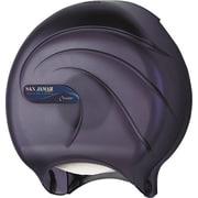 San Jamar® Single Jumbo Bath Tissue Dispenser, Plastic, Transparent Black Pearl (R2090TBK)