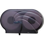 San Jamar® Twin Jumbo Bath Tissue Dispenser, Plastic, Transparent Black Pearl (R4090TBK)