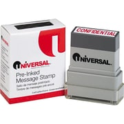 "Universal Pre-Inked ""CONFIDENTIAL"" Message Stamp, 9/16 x 1 11/16, Red"