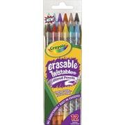 Crayola® Erasable Twistables Colored Pencils, Assorted, 12/Pack
