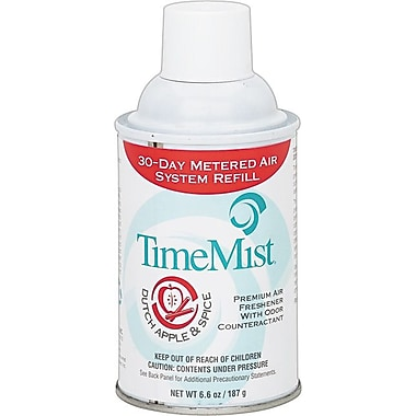 TimeMist® Metered Fragrance Dispenser Refills, Apple & Spice, 5.3 oz., 12/Case