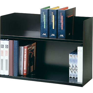 SteelMaster 2-Tier Black Book Rack