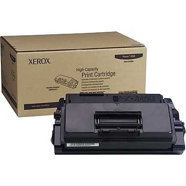 Xerox Phaser 3600 Black Toner Cartridge (106R01371), High Yield