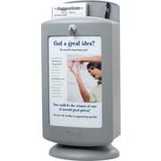 Safco® - Boîte de suggestions personnalisable en plastique gris