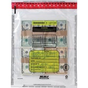 MMF 236-2006-N-20 Tamper-Evident Cash Bag, 250/Box, Clear