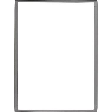 Quartet® Magnetic Dry-Erase Marker Board, Silver, Grey Plastic Frame, 11