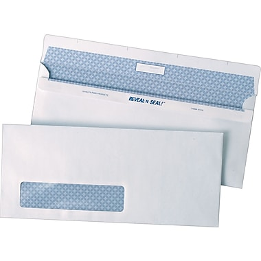 Quality Park – Enveloppes blanches à fenêtre n° 10, 4 1/8 po x 9 1/2 po, bt