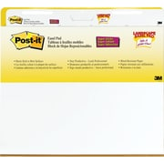 "Post-it® Super Sticky 25 1/2"" x 30"", Landscape Easel Pads, White, 2/Pack"