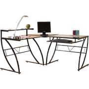 Z-Line Designs™ Belaire Glass L-Desk