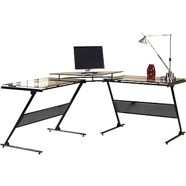 Z-Line Designs™ Delano Glass Top L-Desk