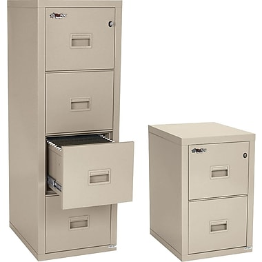 FireKing 1-Hour Compact Turtle Fire Resistant Vertical File Cabinets, Parchment