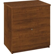 Bestar Hampton™ 2-Drawer Lateral File, Tuscany Brown & Black