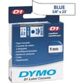 DYMO® D1 1in. Tape Cartridge for Electronic Label Makers, Blue on White, 3/8in. W x 23'L