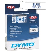 DYMO® D1 1 Tape Cartridge for Electronic Label Makers, Blue on White, 3/8 W x 23'L
