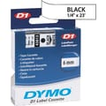 DYMO 1/4in. D1 Label Maker Tape, Black on White