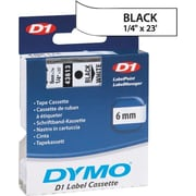 DYMO 1/4 D1 Label Maker Tape, Black on White