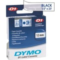 DYMO 1/2in. D1 Label Maker Tape, Blue on Clear