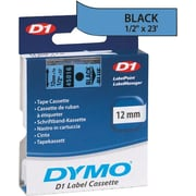 DYMO 1/2 D1 Label Maker Tape, Black on Blue
