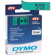 DYMO 1/2 D1 Label Maker Tape, Black on Green