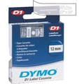 DYMO 1/2in. D1 Label Maker Tape, White on Clear