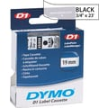 DYMO 3/4in. D1 Label Maker Tape, Black on Clear
